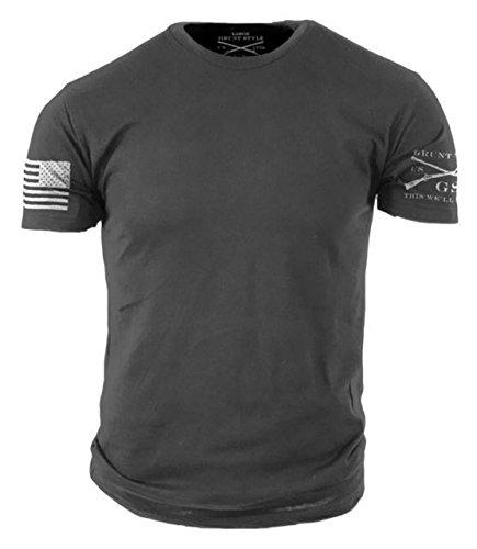 (Grunt Style Basic Men's T-Shirt (Medium, Heavy Metal))