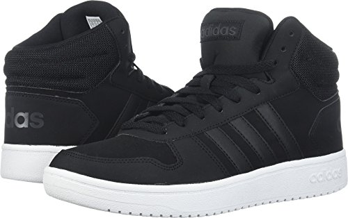 adidas Performance Men's Hoops 2.0 Mid Sneaker, Black/Black/Carbon, 12 M US