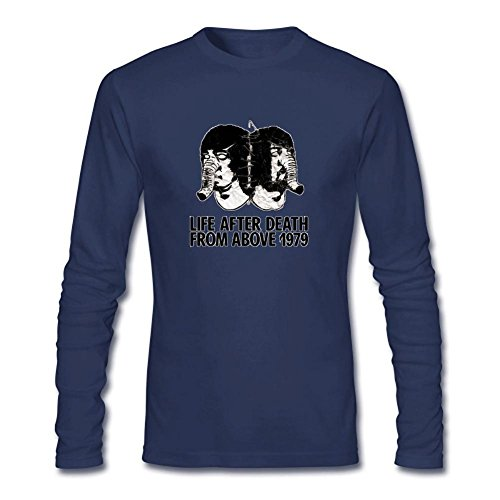 RZF Men's Death from Above 1979 Long Sleeve T-shirt Size L Royal Blue (Shirt 1979 Road)