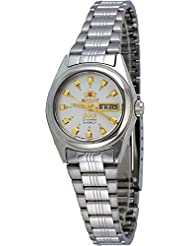 Orient BNQ1X003W Womens 3 Star Stainless Steel Silver Dial Automatic Watch