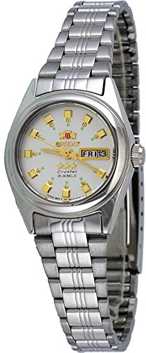(Orient FNQ1X003W Women's 3 Star Stainless Steel Silver Dial Day Date Automatic Watch)
