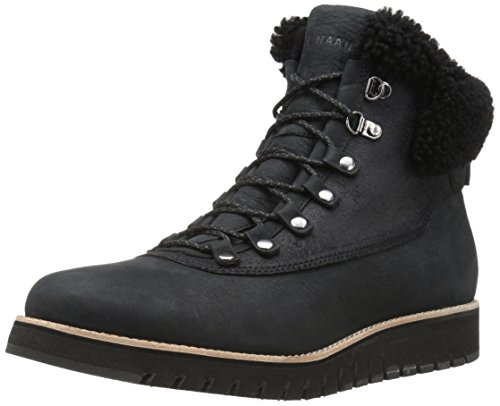 Cole Haan Women's Zerogrand Explorer Hiker Hiking Boot, Leather Waterproof/Black Shearling, 8 B US