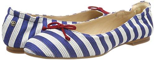 734 blue De k Thea Punta Para Con Tacón Zapatos white Multicolor Mujer Cerrada Bennett L I7pxqw16p
