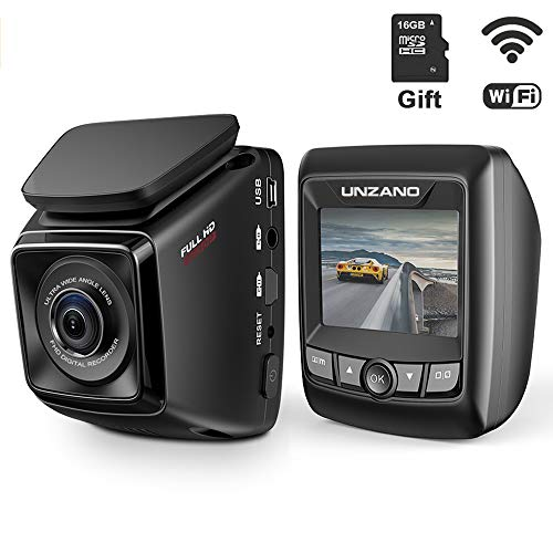 41SMQBvs2WL - Dash Cam FHD 1080P Car DVR with WiFi and 6-Lane 170° Wide Angle Lens, Dashboard Camera Recorder with WDR, Loop Recording, G-Sensor Include 16GB Memory Card