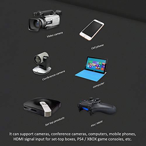 Capturadora Video, Tarjeta De Captura De Audio De VíDeo Hdmi A Usb 2.0,1080P Hd,Para EdicióN De Video/Juegos/Webcasting/Streaming/Video Live GrabacióN
