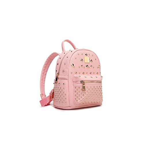 Cosmetic amp;F Lady bag Leather Ms pink trumpet Genuine backpack ZY student travel bags bag backpack Cowhide 7Rwd5Iq