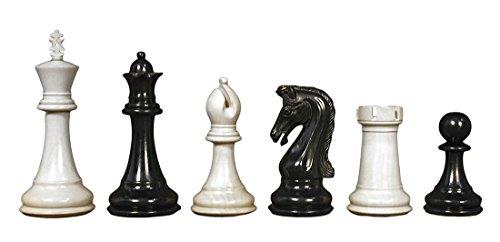 Piezas de ajedrez del mundo sabio Chetak Ebony