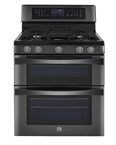 Kenmore Elite 6.1 cu. ft. Double Oven Gas Range w/Convection Cooking in Black Stainless, includes delivery and...