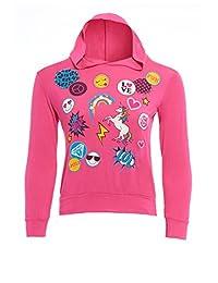 GUBA® Girls Unicorn Emoji Print Fairytale Long Sleeve Hoodie Size 7-13 Years