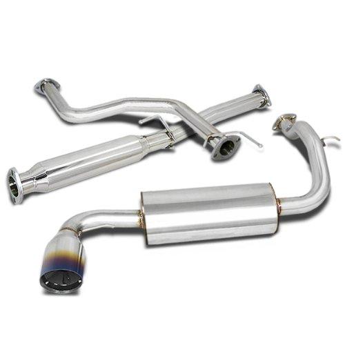 - For Honda Civic Catback Exhaust System 4.5 inches Burn Tip Muffler - ED