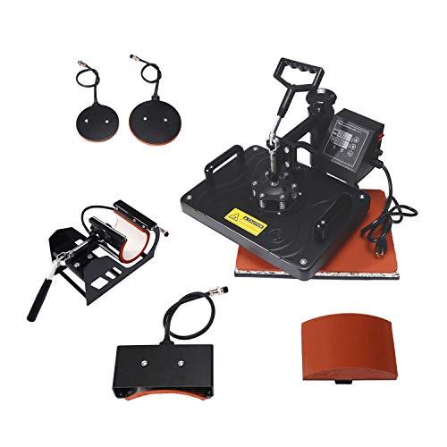 Eseres Heat Press Machine for T Shirts 5 in 1 Combo Mug Heat Sublimation Transfer Press 12 x 15'' (5 In 1 Heat Press Machine Price)
