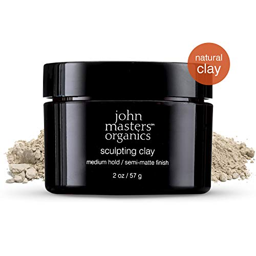 John Masters Organic - Sculpting Clay - Adds Volume and Shine, Gives Medium Hold & Easy styling - Silicone-free - 2.12 oz - Putty Sculpting Organics