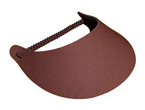 The Incredible Sunvisor, Available in Beautiful Solid Colors, Perfect for The Summer! (Brown)