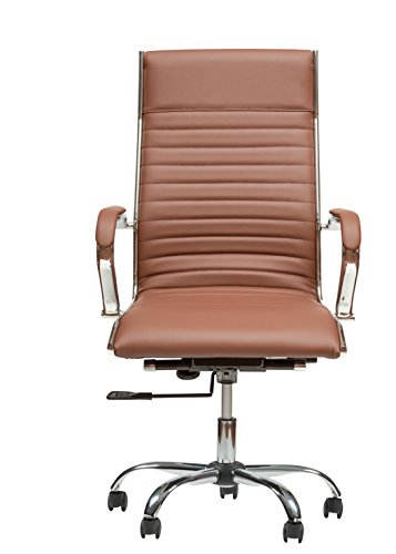 Winport Furniture AB-145HB High-Back Executive Lily 145-HB Leather Desk Chair, Brown