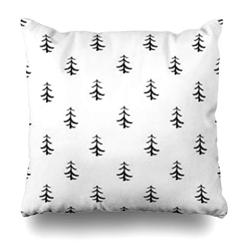 Firewood Tree Pine - ArtsDecor Throw Pillow Covers Plant Forest Pine Tree Pattern Simple for Nature Flora Parks Agriculture Allover Board Branch Cut Home Decor Cushion Square Size 20