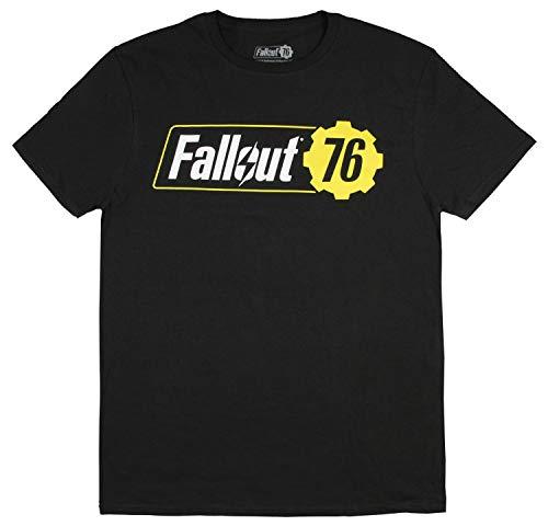 Fallout 76 Shirt Men's Adult Video Game Logo Black T-Shirt -