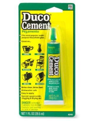 Duco Cement Pegamento Multi-Purpose Household Glue 1 fl oz (29.5 ml)-Pack of 4