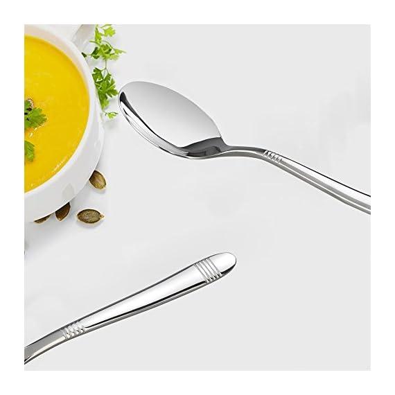 Begale 60-Piece Flatware Set, Stainless Steel, Service for 12 - 60-piece flatware set, services for 12 Service includes: 12 each; knife, dinner forks, dinner spoons, dessert spoons, dessert forks. Daily use for home, kitchen or restaurant - kitchen-tabletop, kitchen-dining-room, flatware - 41SMSgVSNoL. SS570  -