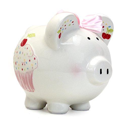 Child to Cherish Ceramic Piggy Bank for Girls, Sprinkle Cupcake]()