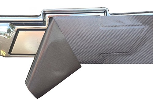 """Qbc Craft Chevy Bowtie Emblem Overlay (3 Pack) Anthracite Grey 3M Carbon Fiber Cut-Your-Own Car Wrap Kit DIY GM Logo Grill Easy to Install 12"""" x 4"""" Sheets (x3) Gray"""