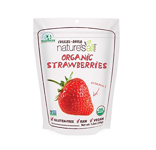 Natierra Nature's All Foods Organic Freeze-Dried Strawberries, 1.2 (Organic Strawberries)
