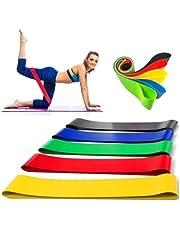 Kit 5 Faixas Elasticas Mini Band Exercicios em Casa Extensor Academia Yoga Pilates Fitness Crossfit