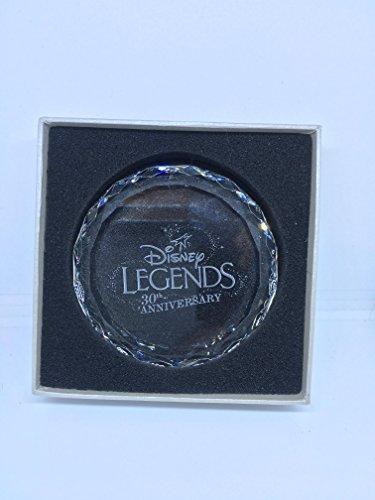 Disney Legends 30th Anniversary Glass Paperweight