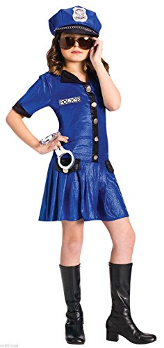 Fun World Police Girl Costume Large Blue]()