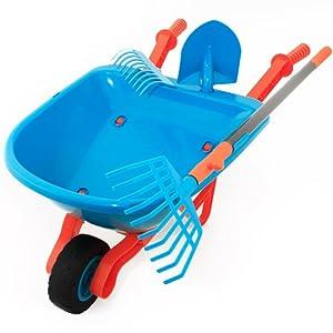 Gardena children 39 s garden tool set with wheelbarrow 5pc for Gardening tools amazon