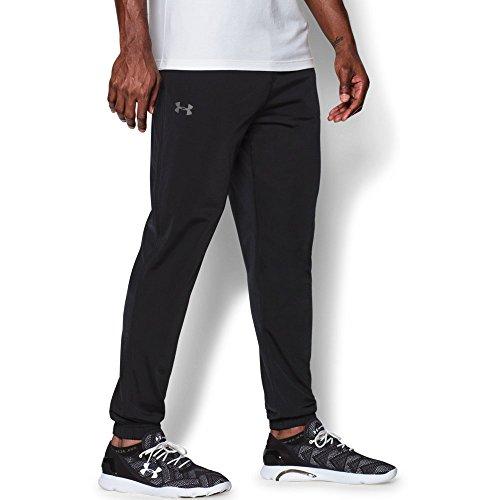 Under Armour Men's Relentless Warm-Up Pants - Tapered Leg, Black/Black, Large