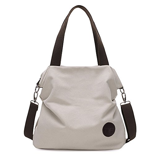 (Mfeo Womens Casual Canvas Shoulder Bags Messenger Bags Crossbody Bag Tote Bags)