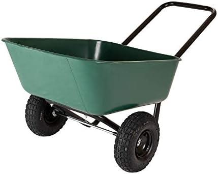Garden Star 70019 Garden Barrow Dual-Wheel Wheelbarrow Garden Cart