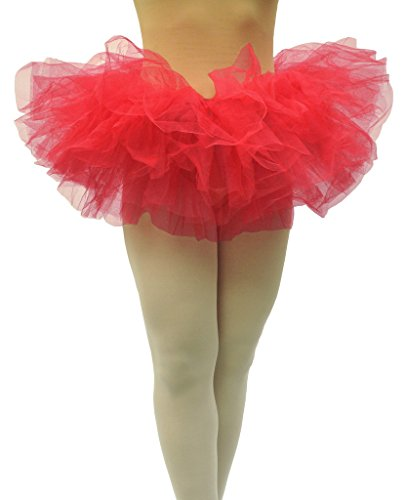 Dancina Tutu Adult Teenagers Dressup Party Ruffle Retro Skirt for Fun Dash Color Runs Short 10