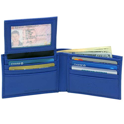 Alpine Swiss Mens Leather Wallet 2-In-1 Bifold Flip, used for sale  Delivered anywhere in USA