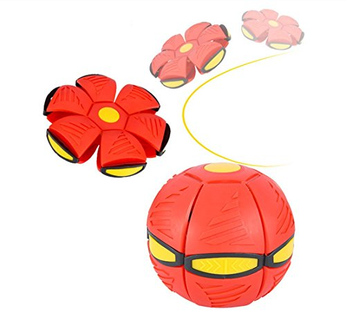 Magic Flying Saucer Ball Lost Ball Frisbee Ball Catch Ball UFO Magic Flash Darts Deformation Ball Frisbee Flying Discs Toy Soccer Game