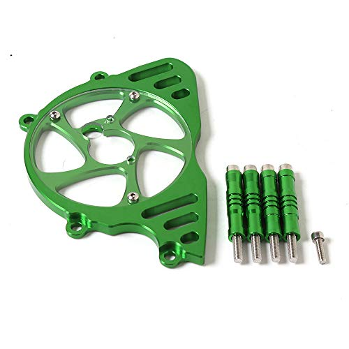 CHUDAN Motorcycle Accessories Engine Sprocket Protective Case Chain Sprocket Chain Guard Cover Left Side Engine Protective Cover Small Tooth Cover for Kawasaki Z1000 2010-2017,Green