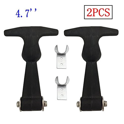 Cooler Hardware - Creatyi 2 PCS 4.7'' Rubber Flexible Heavy Duty Premium SUS304 Stainless Steel T-Handle Draw Latches