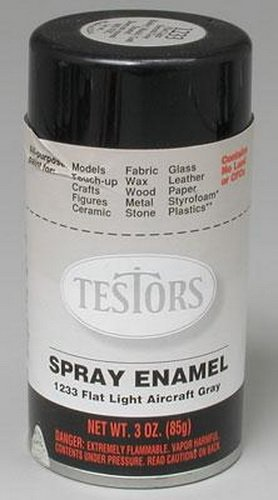 Amazon Com Testors Testors Enamel Flat Light Aircraft Gray Spray