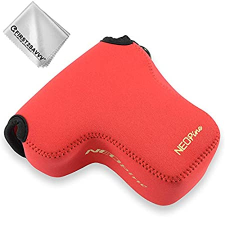 Rojo Funda Cámara Reflex Neopreno Protectora para Sony A6400 A6500 ...