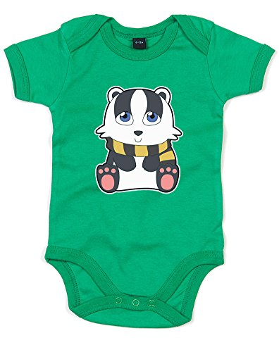 [House Mascot: Badger, Printed Baby Grow - Kelly Green/Transfer 3-6 Months] (Ravenclaw Mascot)
