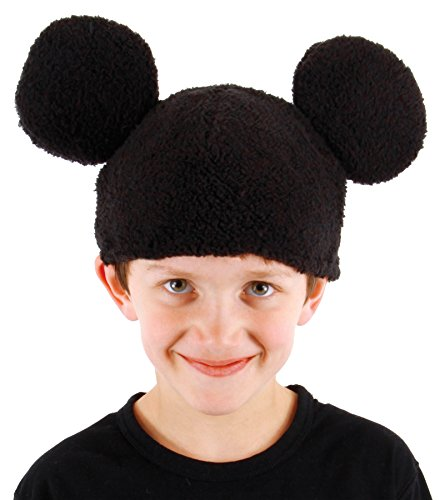 [UHC Boy's Disney Mickey Mouse Beanie Hat Halloween Costume Accessory] (Mickey Mouse Halloween Costumes For Men)