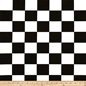 Premier Prints Check Black/White Fabric