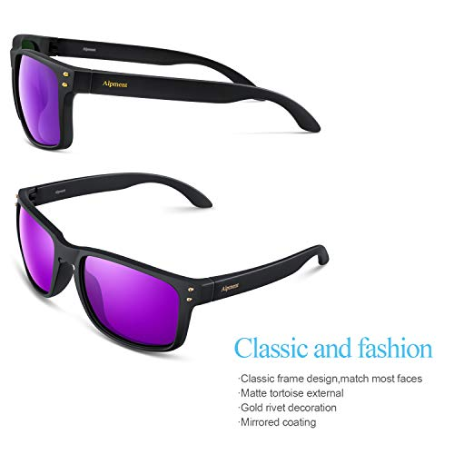 cff43a00e775 Alpment HD Polarized Sunglasses Lightweight Only 22g,UV400 Protection Driving  Glasses Gift Case Multiple Colors
