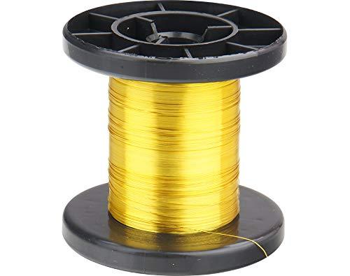 Donau Elektronik LD15–3filo di rame smaltato, giallo, 100m