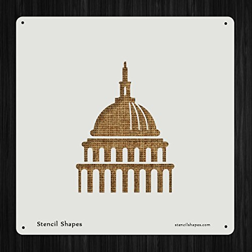 - Congress Architecture Building Capitol Government Style 8806 DIY Plastic Stencil Acrylic Mylar Reusable