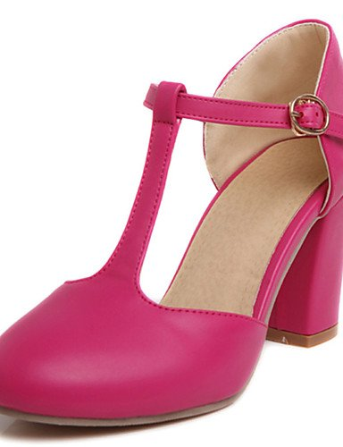 Zq 5 Robusto U pu us10 Pink Eu42 Mujer Fiesta Punta De us5 5 Noche tacones Y Uk8 Blanco negro tacones Cn43 tac¨®n Zapatos Green T Rosa Redonda Tira Cn34 vestido Uk3 En Casual Eu35 rIfFrT