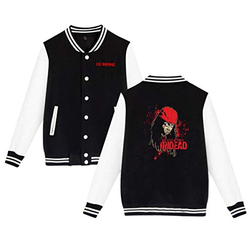 Baseball Uniform Jacket Sport Coat, Lil Better Off Undead Wayne Cotton Sweater for Women Men Boy Girls Black]()