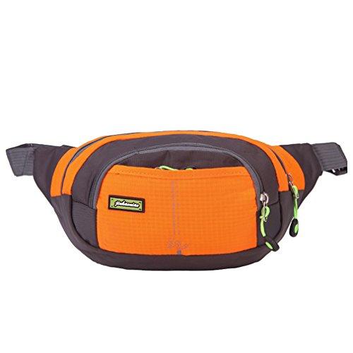 VANTOGER Travelling Running Belt Water Resistant Waist Bag Fanny Pack / Hip Pack Bum Bag for Man Women Sports Adjustable Running Pouch for Phones (Orange) For Sale