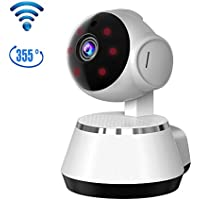 Home Security Camera, Remote Smart Cam 720P 355 Degree WiFi Wireless IP Security Surveillance Camera for Baby /Elder/ Pet/Nanny Monitor with Night Vision