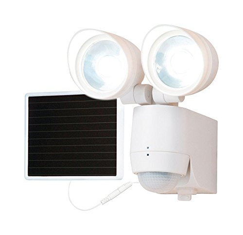 All-Pro MST1301LW WHT Twin Sol Fld Light Solar Fld Light